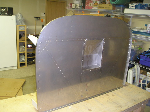 Front of finished firewall