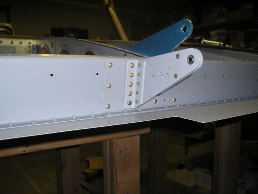 Installed inner aileron hinge